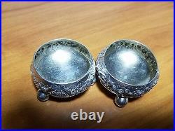 Vintage Tiffany & Co Sterling Silver #3246M 8491 Master Salt Cellar Set