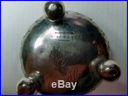 Vintage Tiffany Sterling Repousse Master Salt Cellar Gold Wash Edward Moore