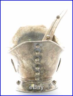 Vintage William Spratling Sterling Silver Open Salt Cellar with Spoon