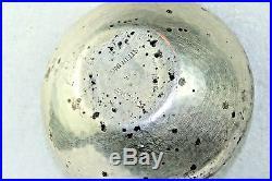 Vtg Hand Wrought Handmade Sterling Silver Morrison Enamel Large Salt Dish Cellar
