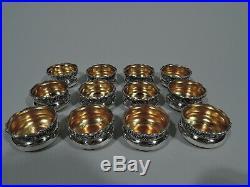 Webster Open Salts 12 Antique Art Nouveau Bowls American Sterling Silver