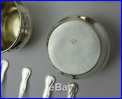 Webster Sterling Silver Salt Cellars with Spoons Set of 6