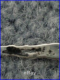 Wedgwood Basalt Salt Cellar, Black with Flower Design, Silver Spoon, VERY RARE