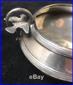 Whiting Sterling Silver Open Salt Cellar Figural Birds Circa 1870s